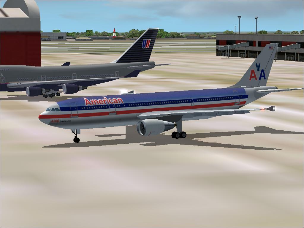 b4709a831bbec Všimni si dlhý modrý pruh na trupe, červený nápis 'ameican' vpredu, a  hlavne dve veľké 'áčka' na chvoste. Je to výrazne iný imidž ako iné  aerolinky, ...