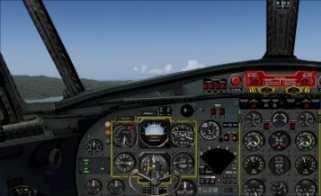 F27 Mk 300M cockpit 1 display Capt side